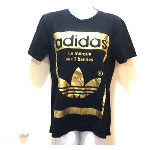 Adidas Originals gold and black athleasure